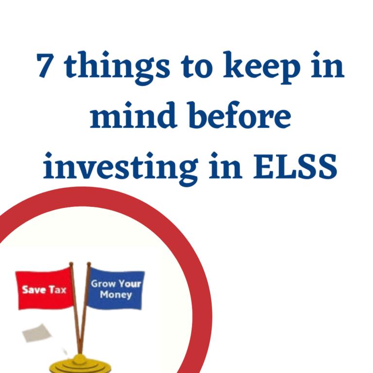 Invest in ELSS